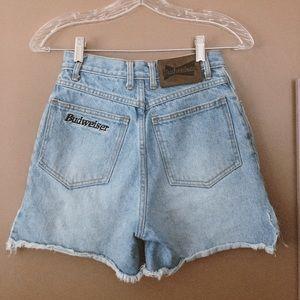 Vintage Budweiser daisy duke denim shorts